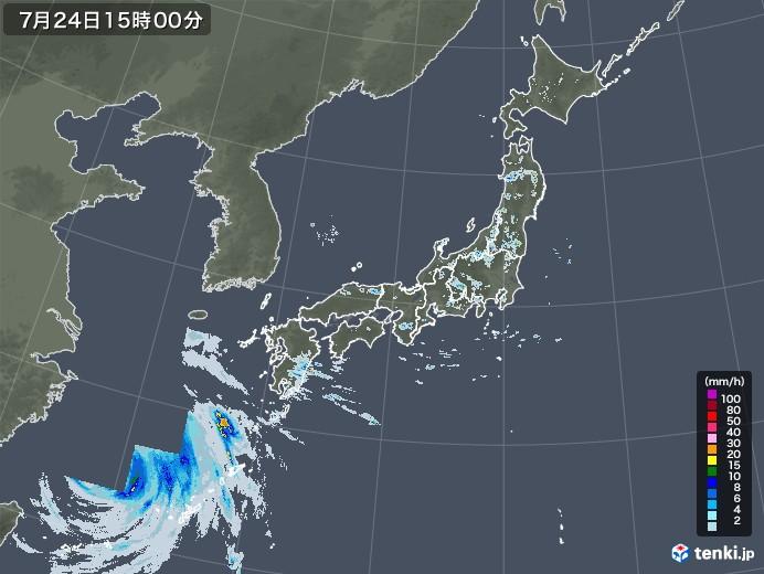 雨雲レーダー(2021年07月24日)