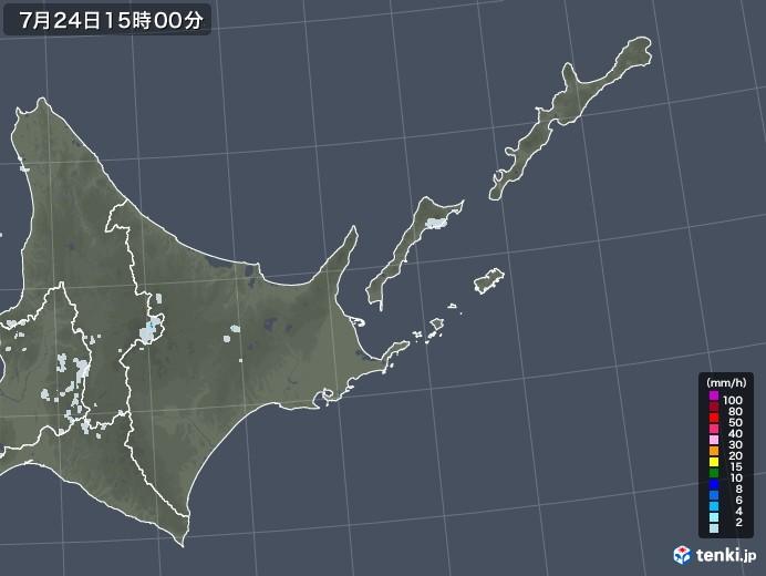 道東の雨雲レーダー(2021年07月24日)