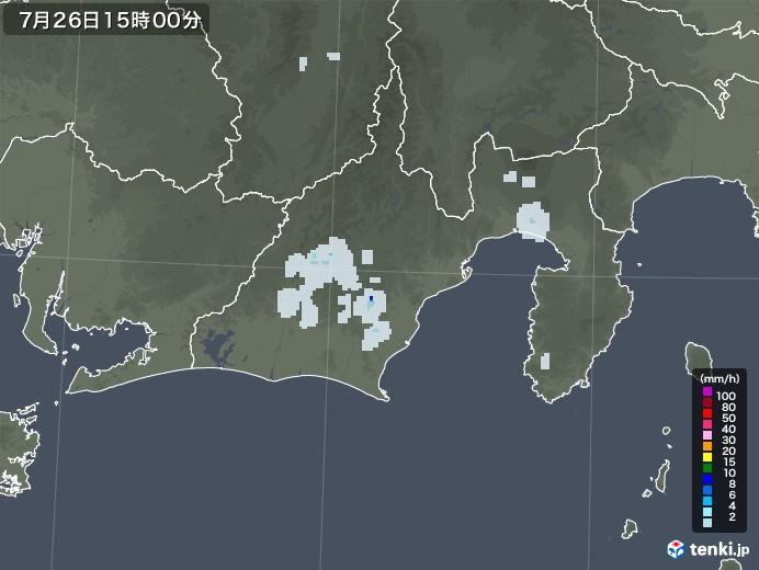 静岡県の雨雲レーダー(2021年07月26日)