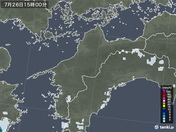 愛媛県の雨雲レーダー(2021年07月26日)