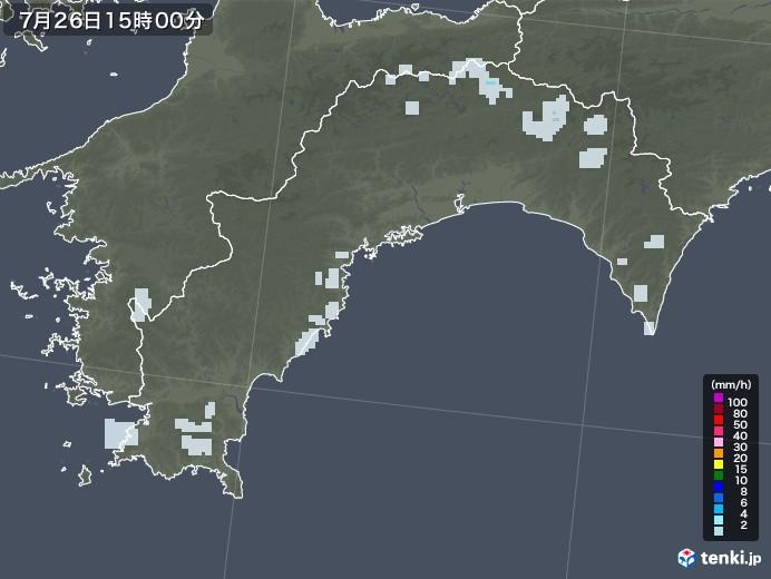 高知県の雨雲レーダー(2021年07月26日)