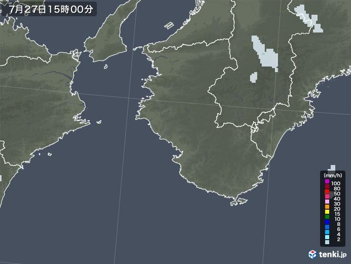 和歌山県の雨雲レーダー(2021年07月27日)