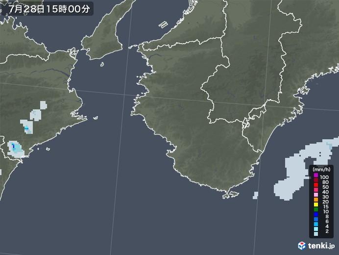 和歌山県の雨雲レーダー(2021年07月28日)