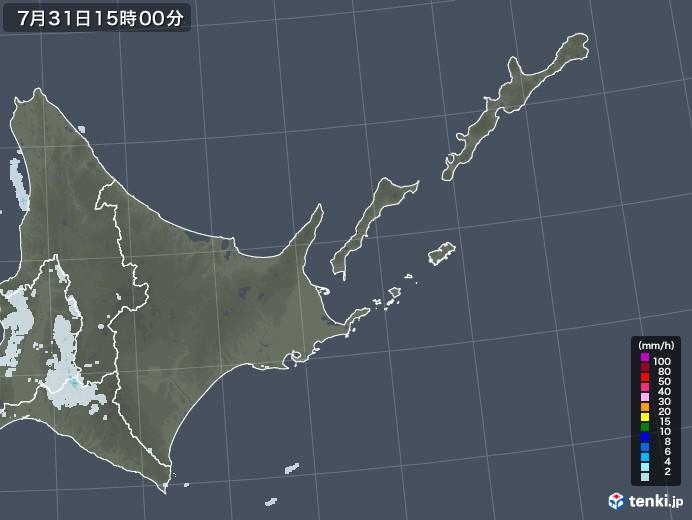 道東の雨雲レーダー(2021年07月31日)