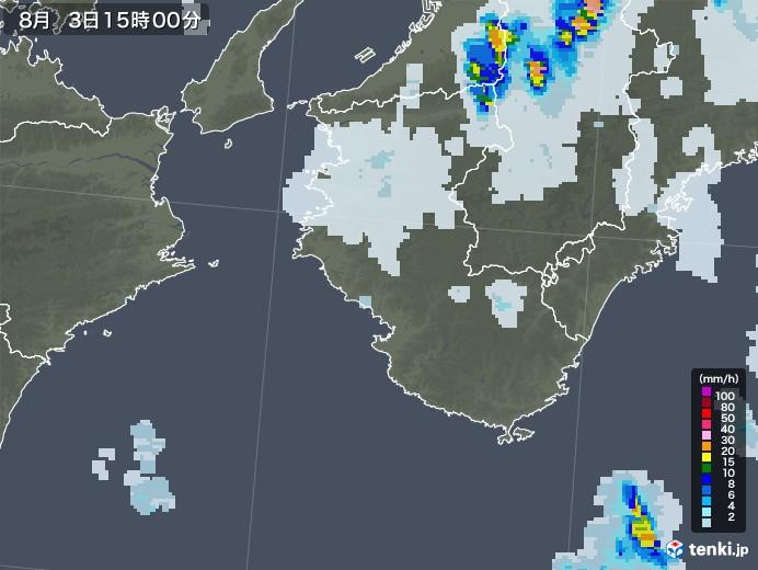 和歌山県の雨雲レーダー(2021年08月03日)