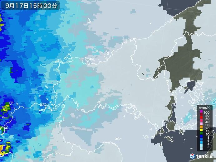 山口県の雨雲レーダー(2021年09月17日)