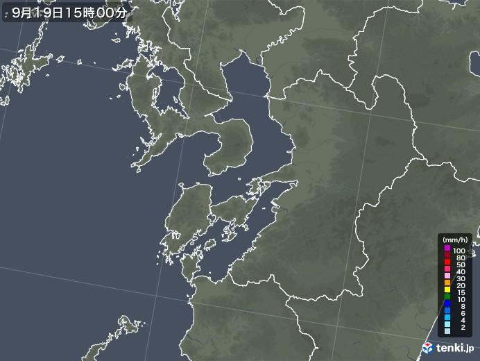 熊本県の雨雲レーダー(2021年09月19日)