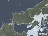 2021年09月21日の山口県の雨雲レーダー
