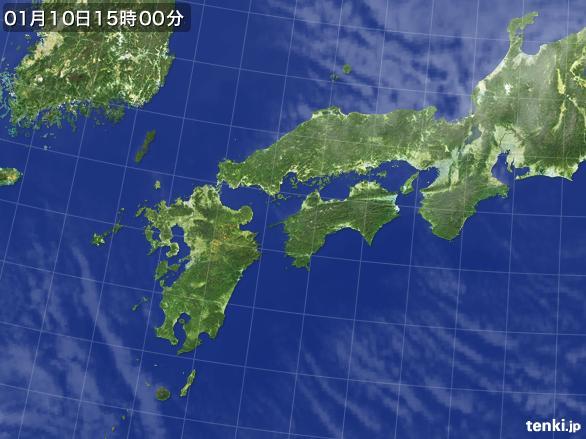 実況天気図(2015年01月10日)