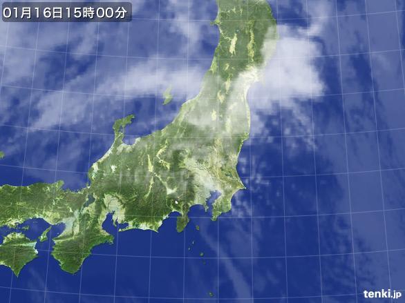 実況天気図(2015年01月16日)