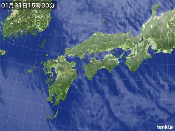 実況天気図(2015年01月31日)