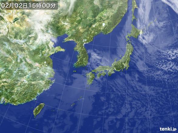実況天気図(2015年02月02日)