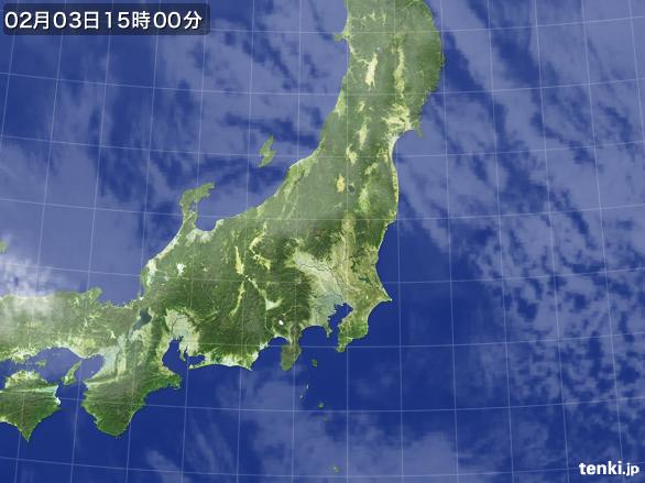 実況天気図(2015年02月03日)