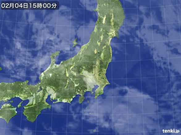 実況天気図(2015年02月04日)