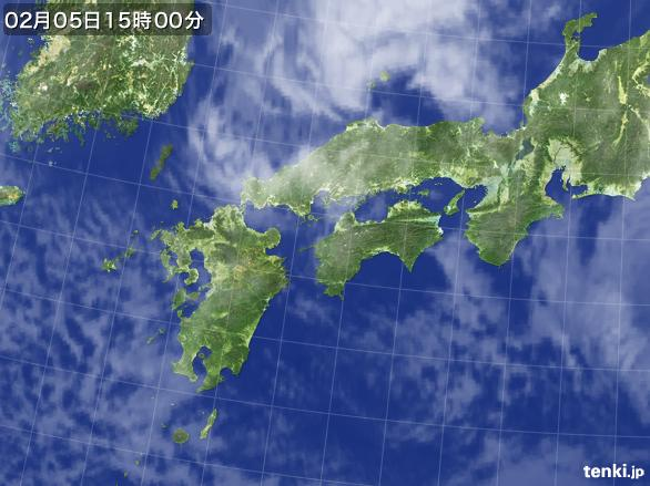 実況天気図(2015年02月05日)