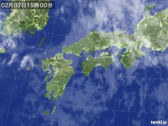 実況天気図(2015年02月07日)