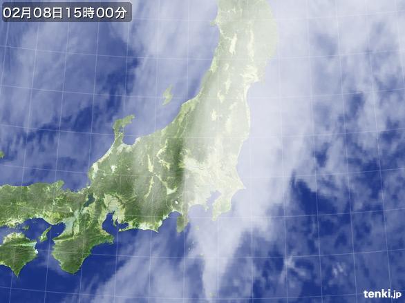 実況天気図(2015年02月08日)
