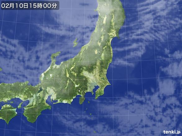 実況天気図(2015年02月10日)
