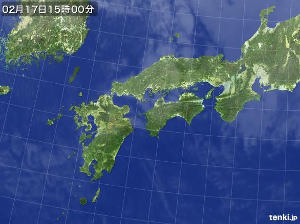 実況天気図(2015年02月17日)