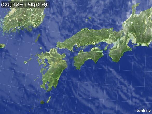 実況天気図(2015年02月18日)