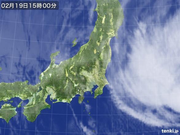 実況天気図(2015年02月19日)