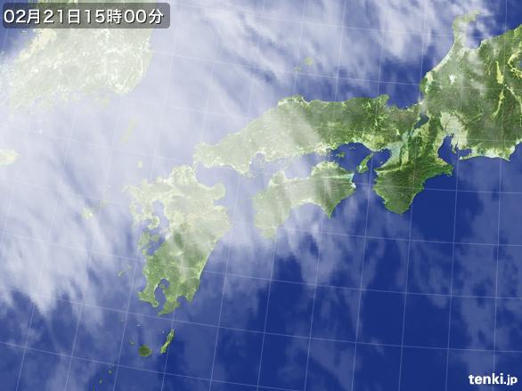 実況天気図(2015年02月21日)