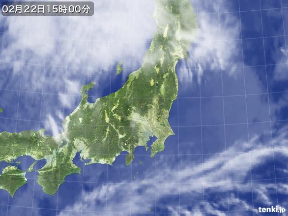 実況天気図(2015年02月22日)