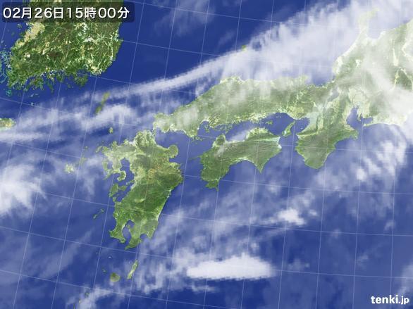 実況天気図(2015年02月26日)