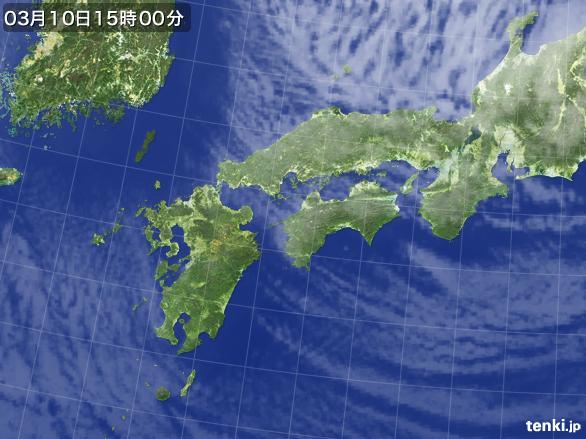実況天気図(2015年03月10日)