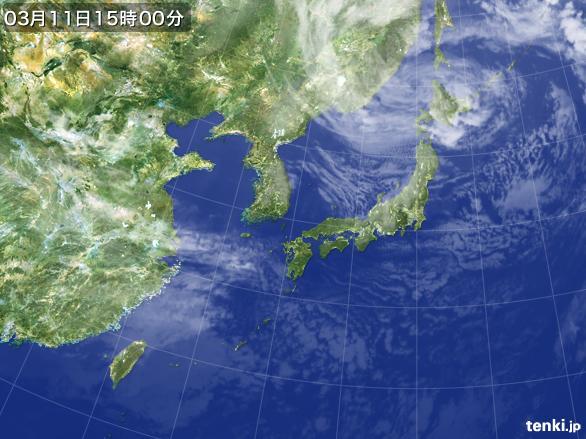 実況天気図(2015年03月11日)