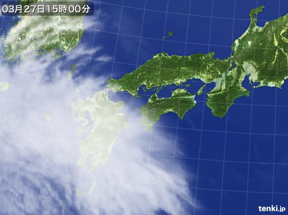実況天気図(2015年03月27日)