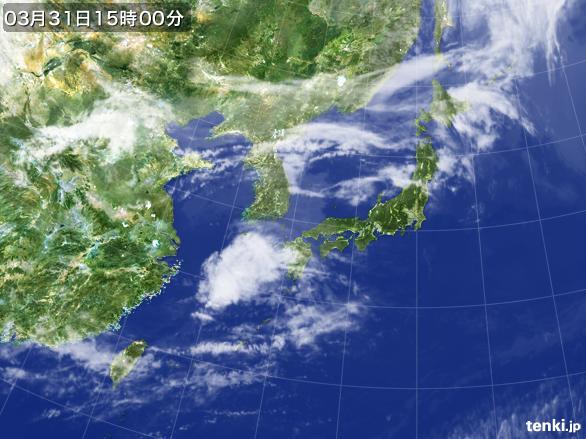 実況天気図(2015年03月31日)