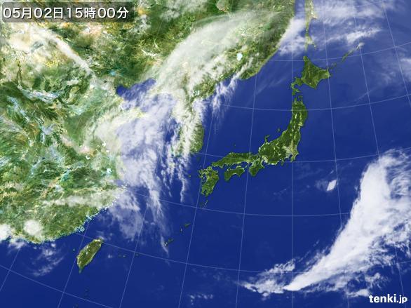 実況天気図(2015年05月02日)