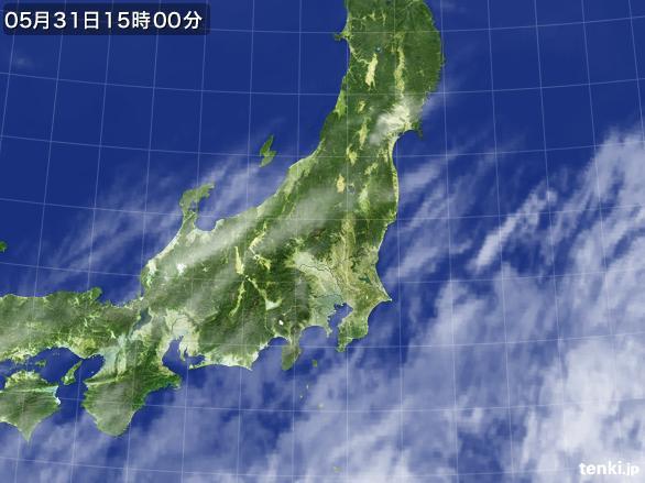 実況天気図(2015年05月31日)