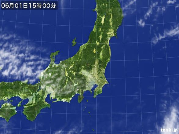 実況天気図(2015年06月01日)