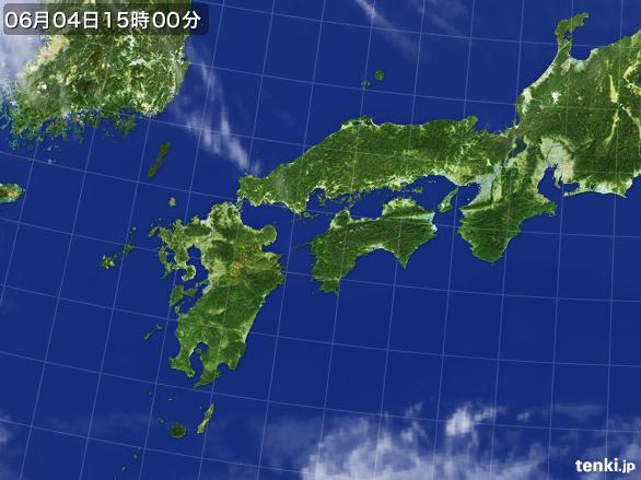 実況天気図(2015年06月04日)
