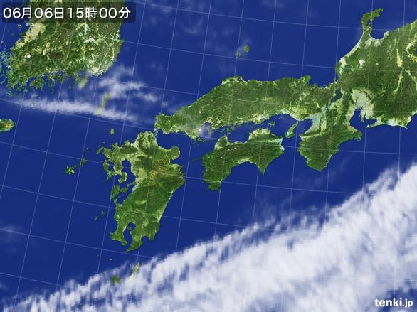 実況天気図(2015年06月06日)