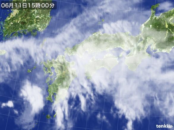 実況天気図(2015年06月11日)