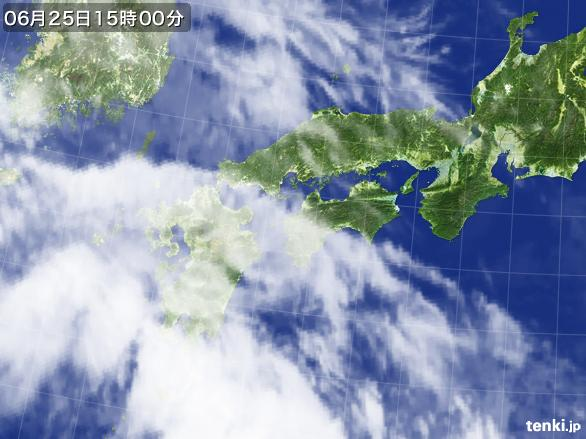 実況天気図(2015年06月25日)