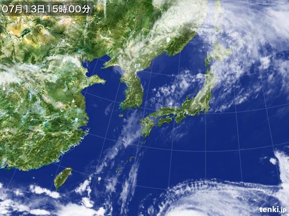 実況天気図(2015年07月13日)