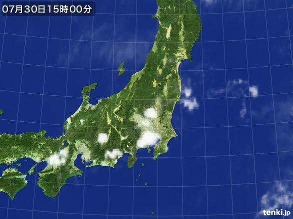 実況天気図(2015年07月30日)