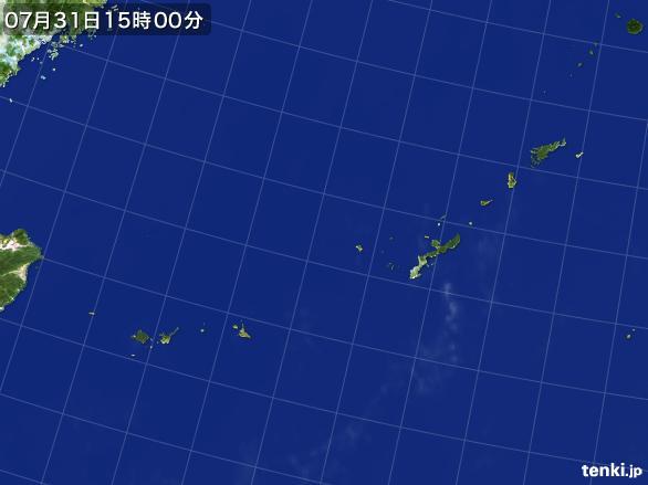 実況天気図(2015年07月31日)