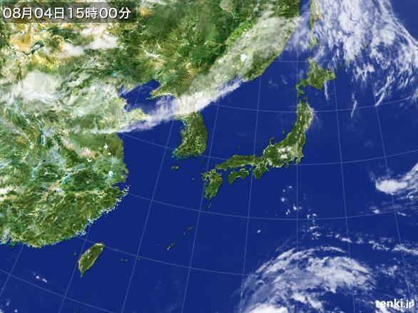 実況天気図(2015年08月04日)