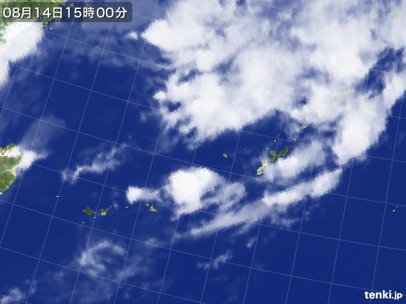 実況天気図(2015年08月14日)