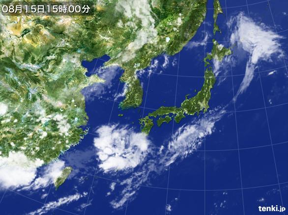 実況天気図(2015年08月15日)