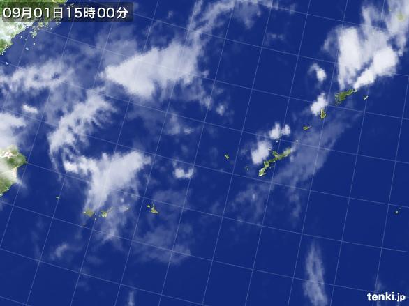 実況天気図(2015年09月01日)