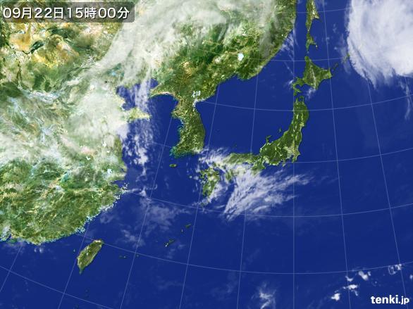 実況天気図(2015年09月22日)