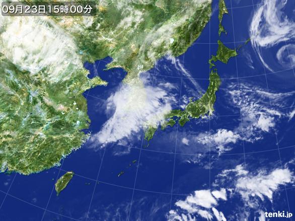 実況天気図(2015年09月23日)