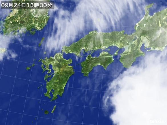 実況天気図(2015年09月24日)