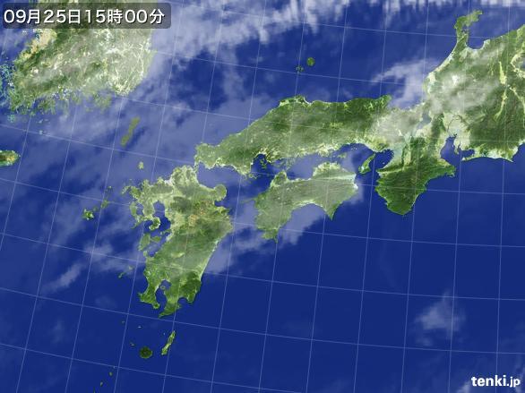 実況天気図(2015年09月25日)